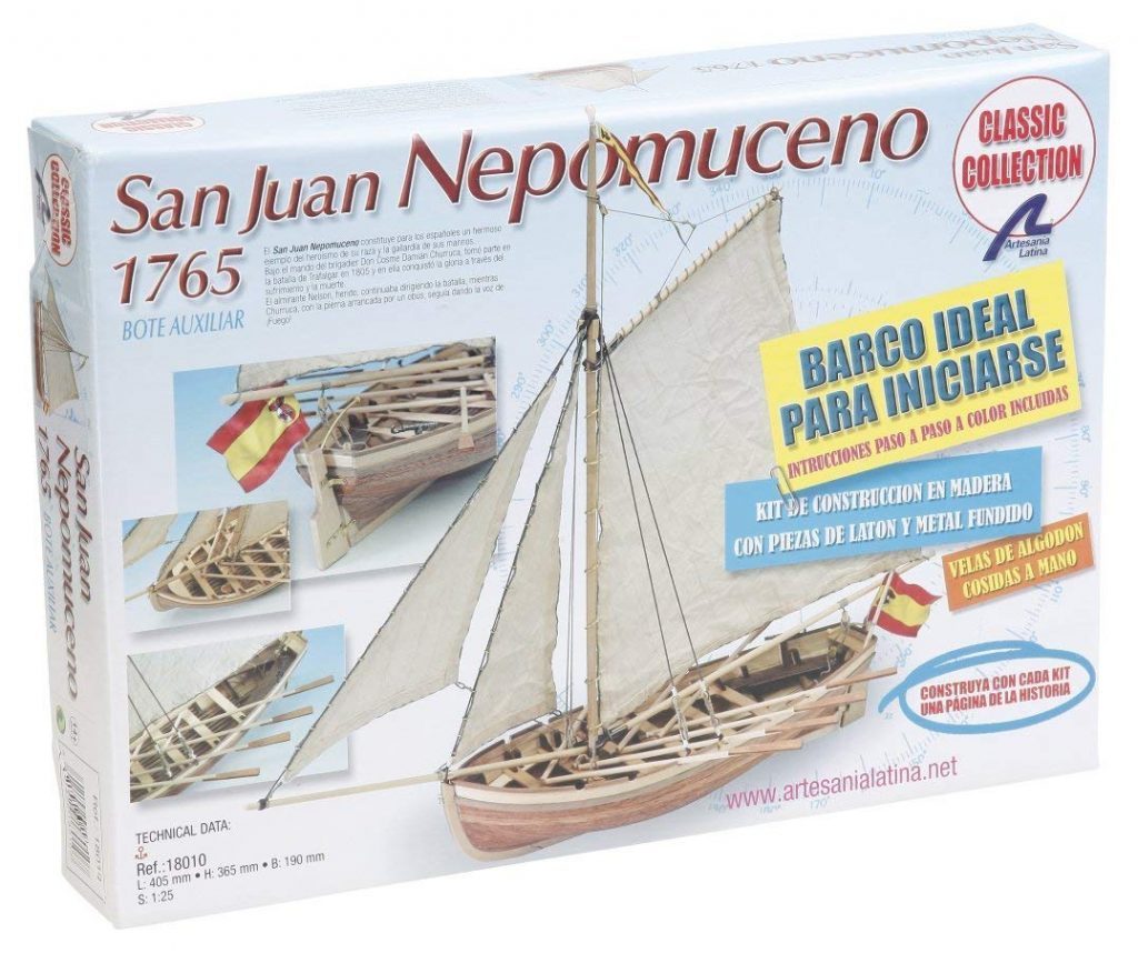 Caja de la lancha de San juan de Nepomuceno: Artesanía Latina
