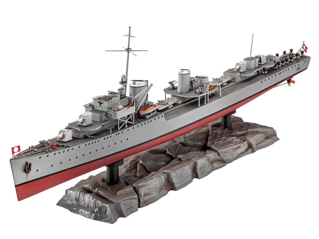 Maqueta de modelismo naval German Destroyer