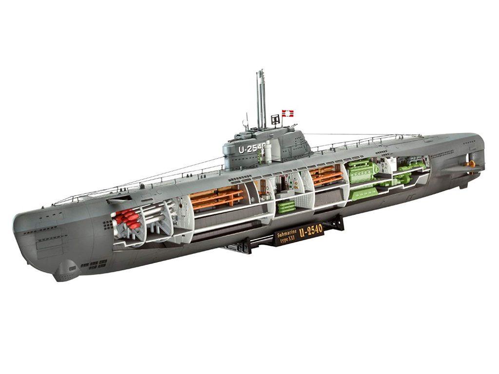 Submarino aleman Type XXI modelismo naval